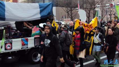 东日本地震一周年关西大阪地区反核游行队伍